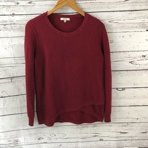 Madewell Waffle Knit Pullover Sweater Medium